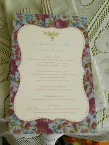 luncheon menu